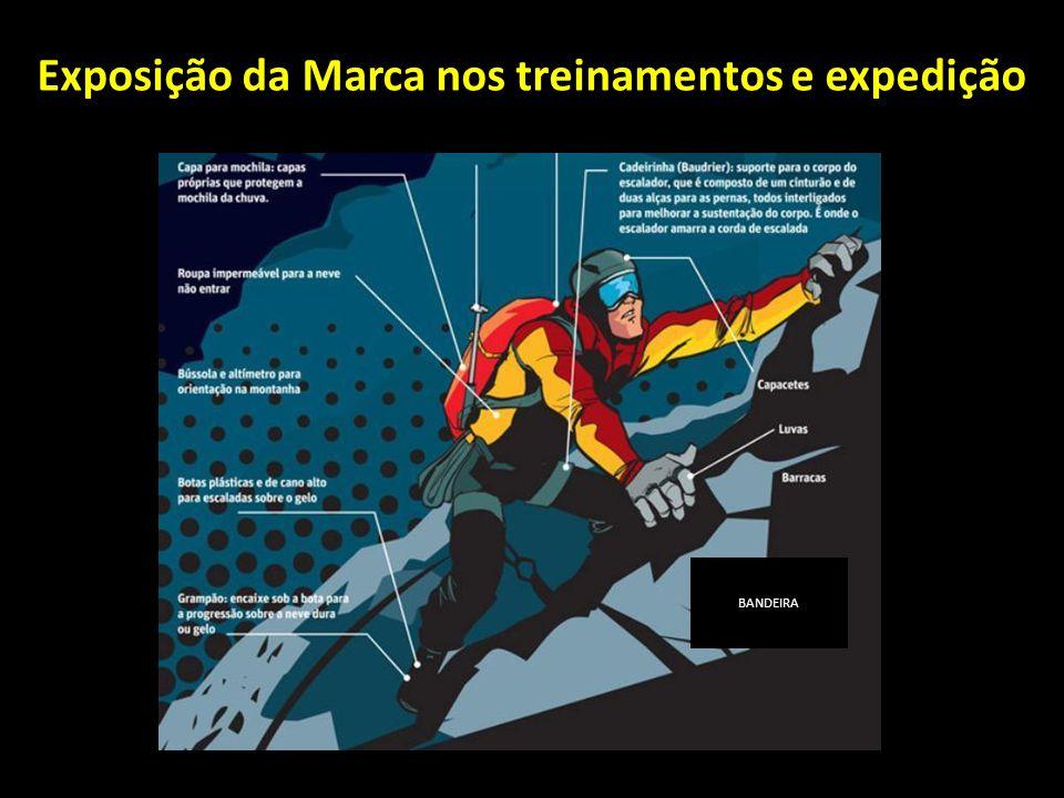 Exposição da Marca nos treinamentos e expedição BANDEIRA
