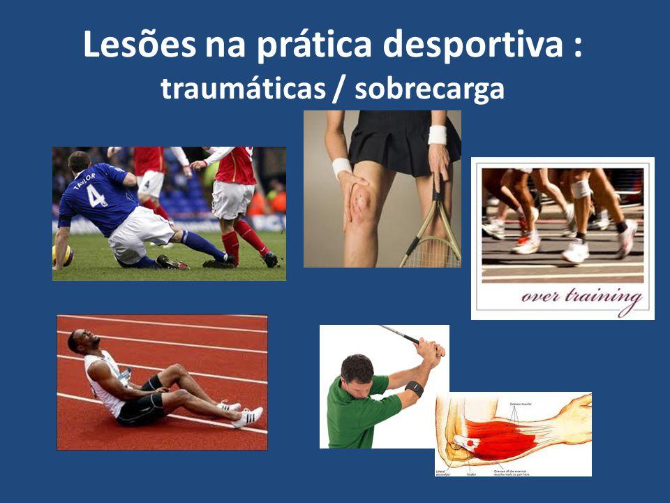 Lesões na prática desportiva : traumáticas / sobrecarga