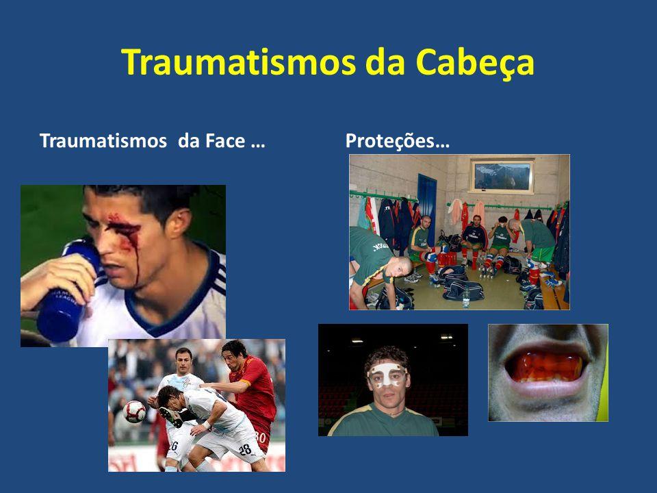Traumatismos da Cabeça Traumatismos da Face … Proteções…