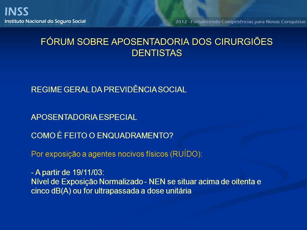 REGIME GERAL DA PREVIDÊNCIA SOCIAL APOSENTADORIA ESPECIAL COMO É FEITO O ENQUADRAMENTO.