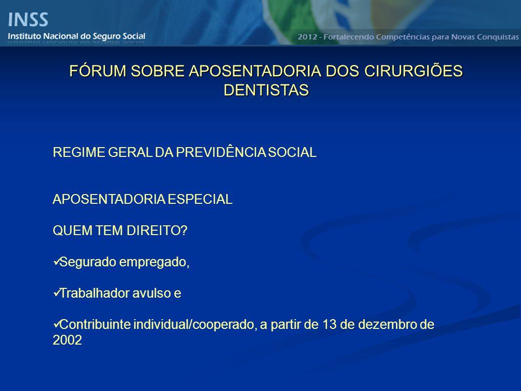 REGIME GERAL DA PREVIDÊNCIA SOCIAL APOSENTADORIA ESPECIAL QUEM TEM DIREITO.