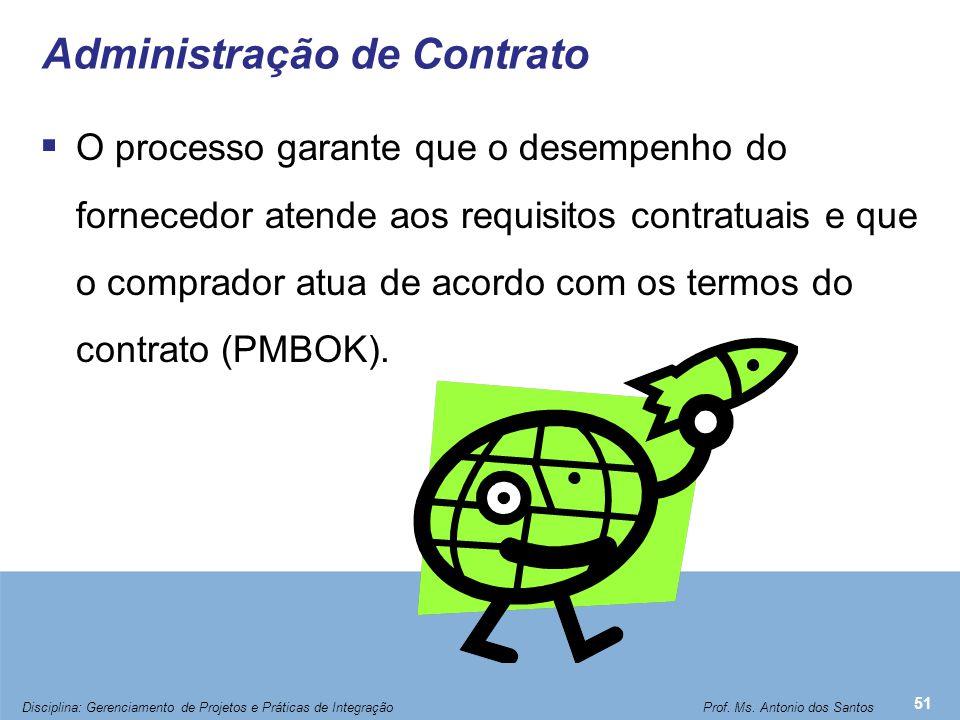 Administração de Contrato  O processo garante que o desempenho do fornecedor atende aos requisitos contratuais e que o comprador atua de acordo com o