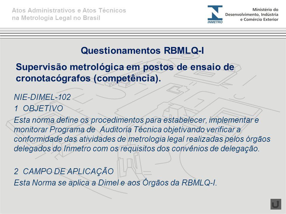 NIE-DIMEL-102 1 OBJETIVO Esta norma define os procedimentos para estabelecer, implementar e monitorar Programa de Auditoria Técnica objetivando verifi
