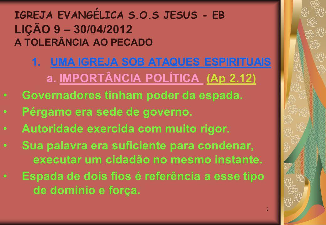 14 4.CRISTO EXORTA A IGREJA DE PÉRGAMO c.