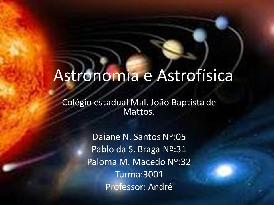 Astronomia e Astrofísica Colégio estadual Mal.João Baptista de Mattos.