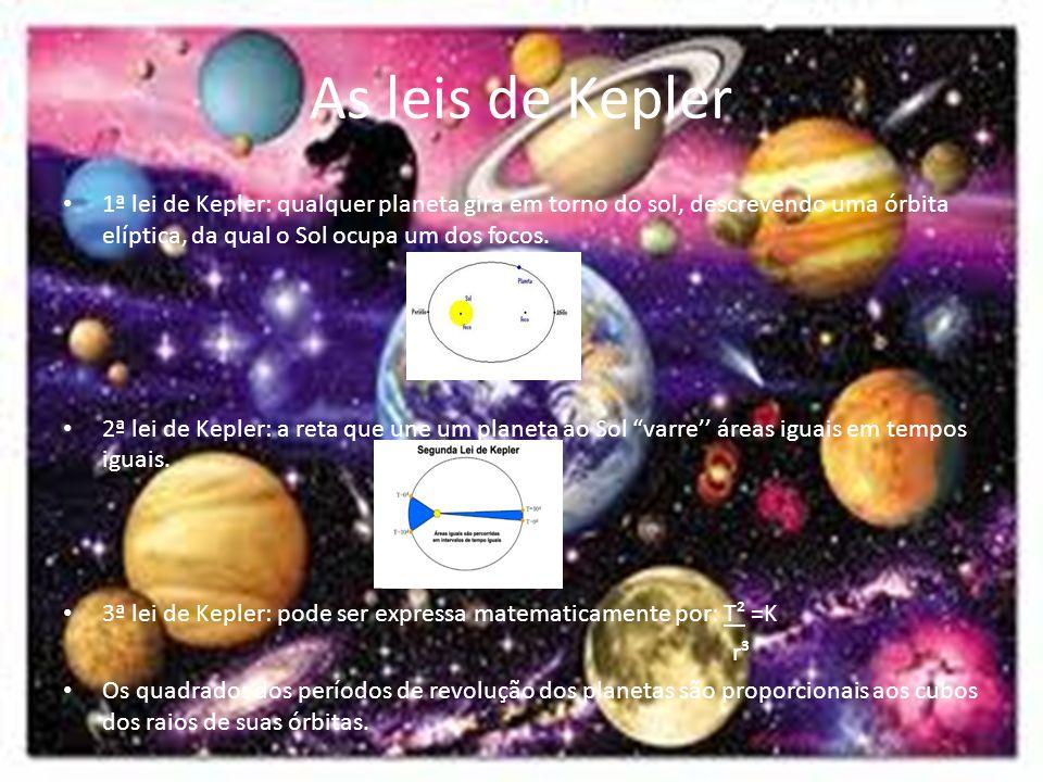 As leis de Kepler 1ª lei de Kepler: qualquer planeta gira em torno do sol, descrevendo uma órbita elíptica, da qual o Sol ocupa um dos focos.