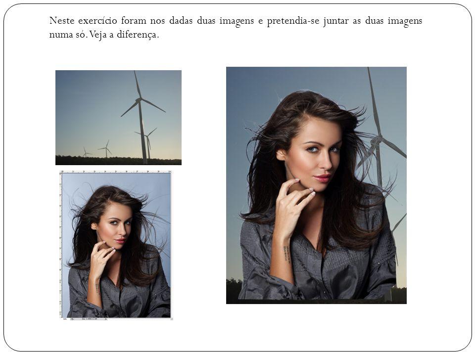 Neste exercício foram nos dadas duas imagens e pretendia-se juntar as duas imagens numa só. Veja a diferença.