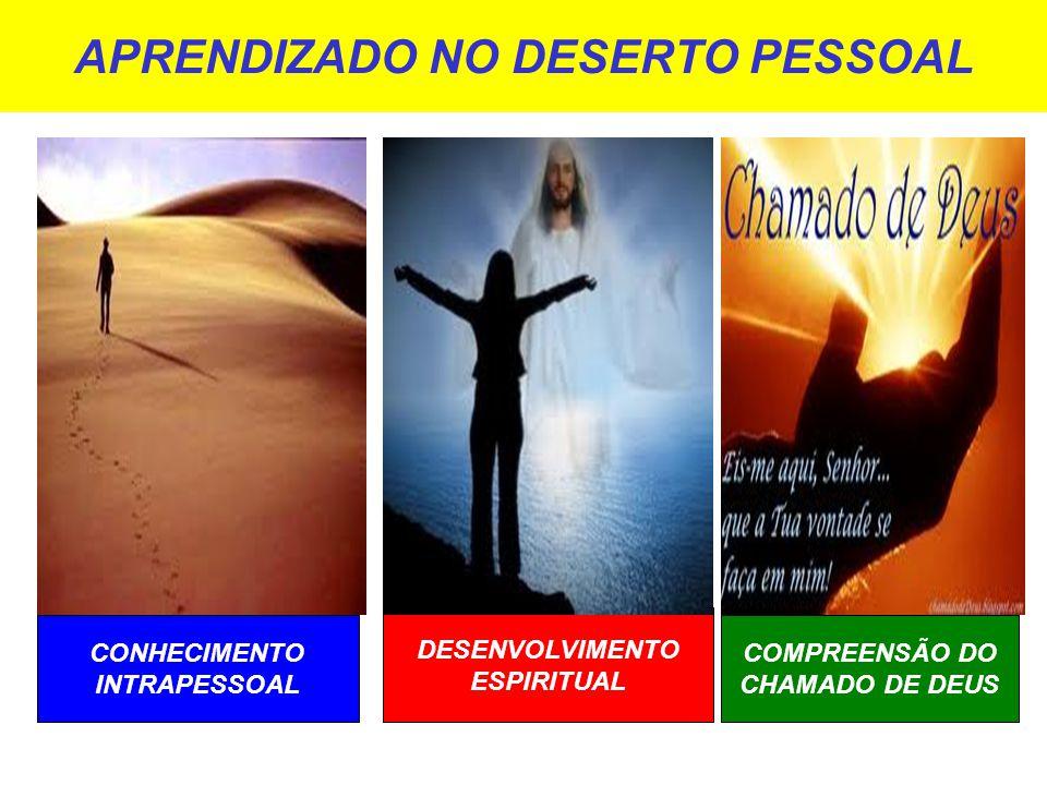 APRENDIZADO NO DESERTO PESSOAL CONHECIMENTO INTRAPESSOAL DESENVOLVIMENTO ESPIRITUAL COMPREENSÃO DO CHAMADO DE DEUS