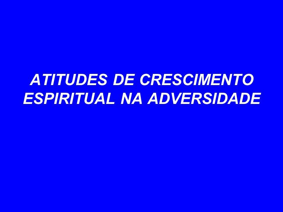 ATITUDES DE CRESCIMENTO ESPIRITUAL NA ADVERSIDADE