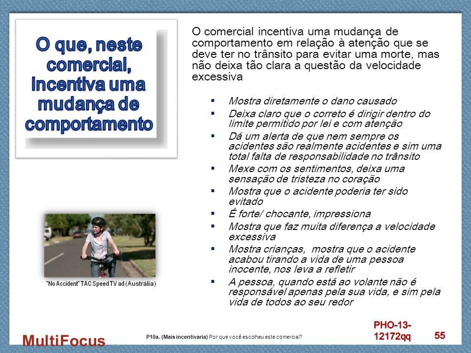 MultiFocus O comercial incentiva uma mudança de comportamento em relação à atenção que se deve ter no trânsito para evitar uma morte, mas não deixa tã