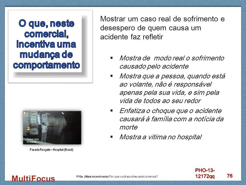 MultiFocus Mostrar um caso real de sofrimento e desespero de quem causa um acidente faz refletir  Mostra de modo real o sofrimento causado pelo acide