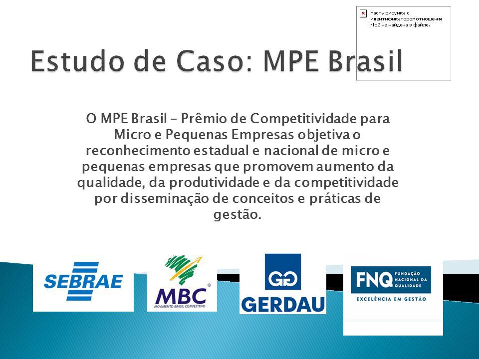 O MPE Brasil – Prêmio de Competitividade para Micro e Pequenas Empresas objetiva o reconhecimento estadual e nacional de micro e pequenas empresas que