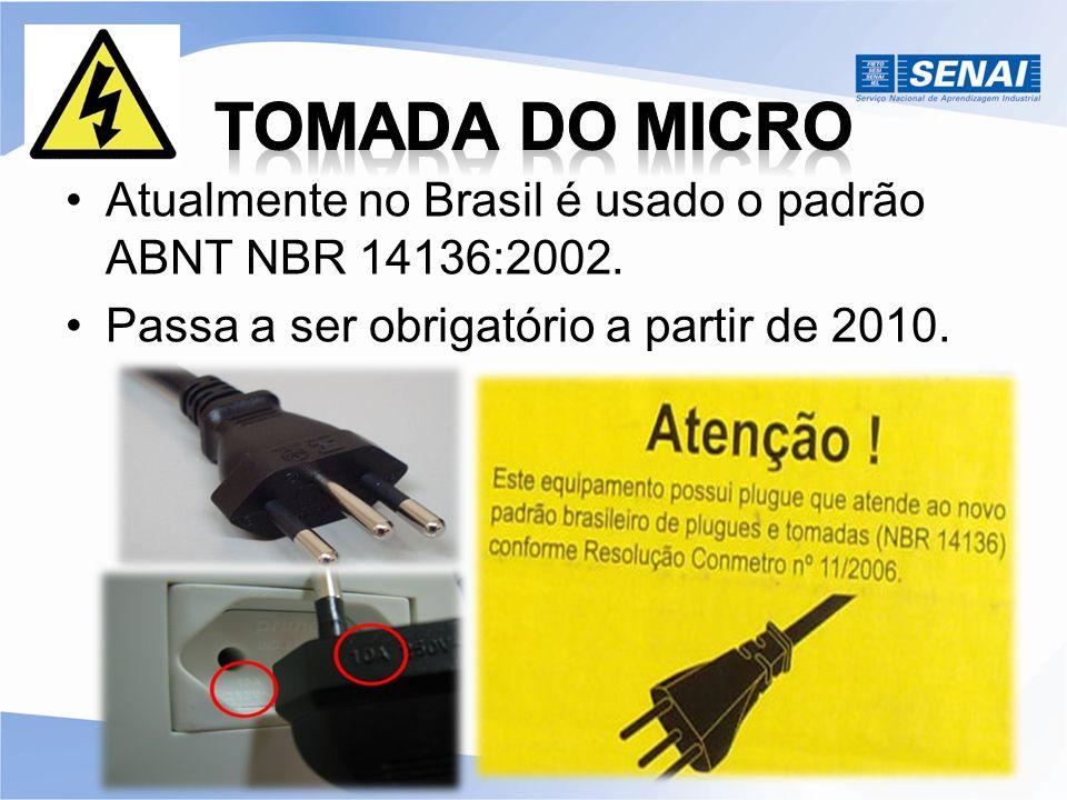 Atualmente no Brasil é usado o padrão ABNT NBR 14136:2002. Passa a ser obrigatório a partir de 2010.