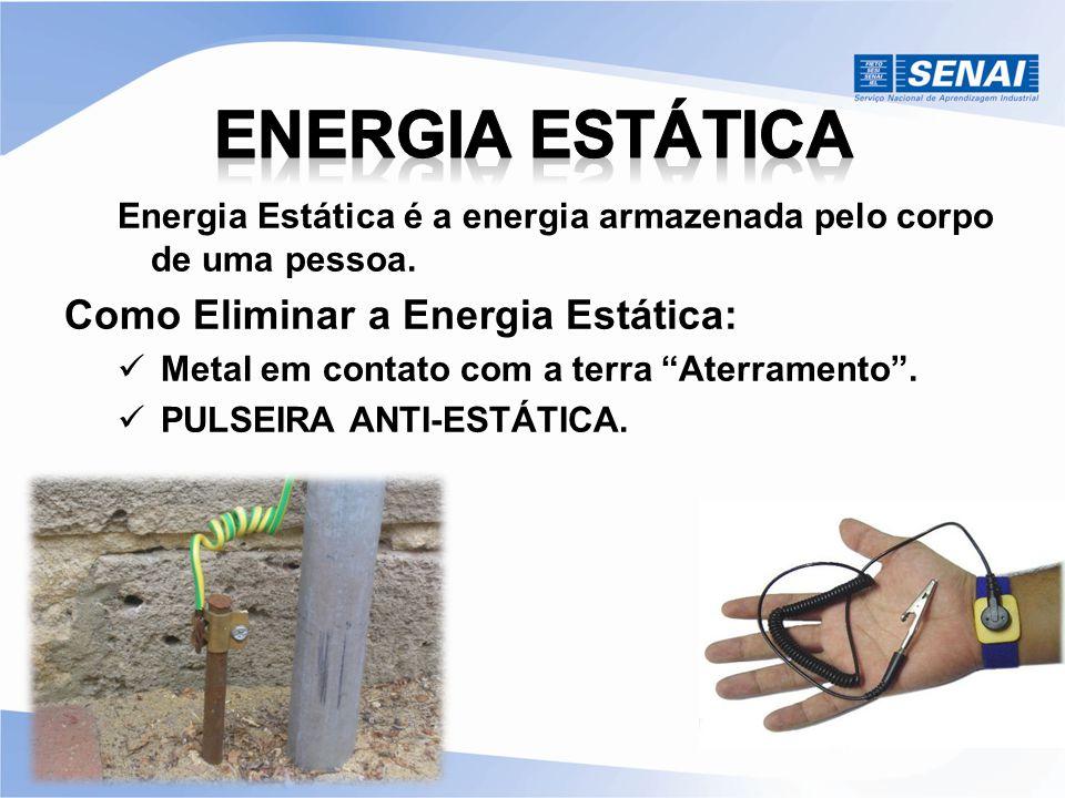 """Energia Estática é a energia armazenada pelo corpo de uma pessoa. Como Eliminar a Energia Estática: Metal em contato com a terra """"Aterramento"""". PULSEI"""