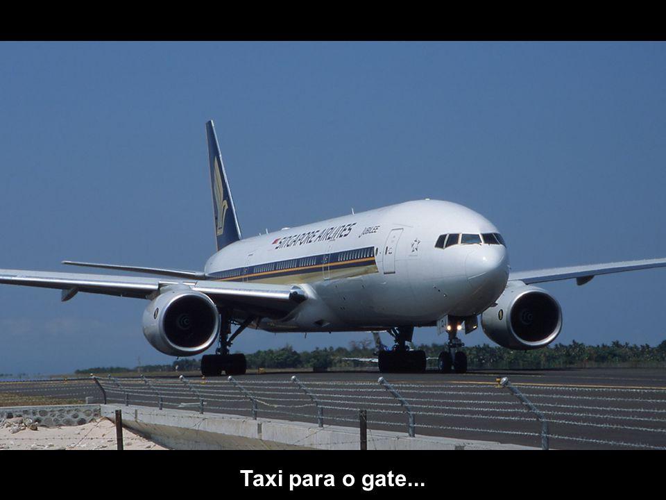Taxi para o gate...