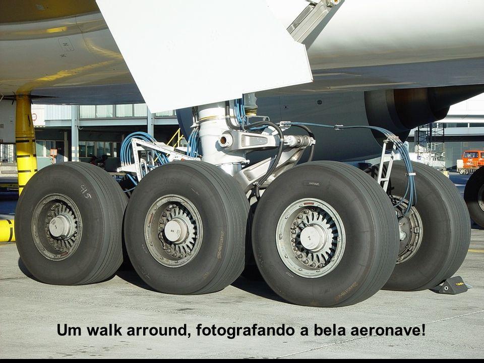 Um walk arround, fotografando a bela aeronave!