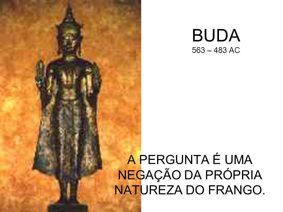 BUDA 563 – 483 AC A PERGUNTA É UMA NEGAÇÃO DA PRÓPRIA NATUREZA DO FRANGO.