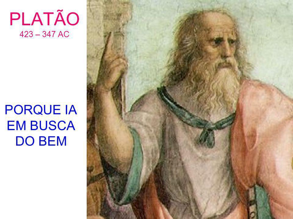 PLATÃO 423 – 347 AC PORQUE IA EM BUSCA DO BEM