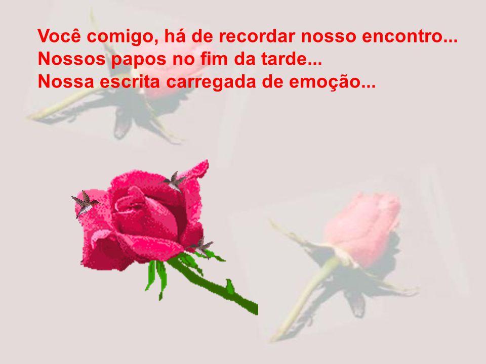 Obrigado pelo dia em que também me ofertar uma rosa. Será maravilhoso para mim! Ela será você mesmo.