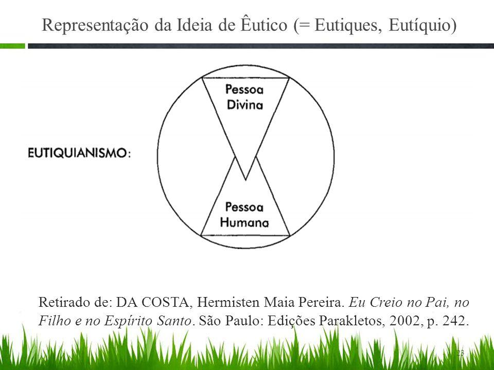 23 Representação da Ideia de Êutico (= Eutiques, Eutíquio) Retirado de: DA COSTA, Hermisten Maia Pereira.