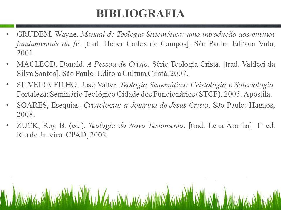 BIBLIOGRAFIA GRUDEM, Wayne.