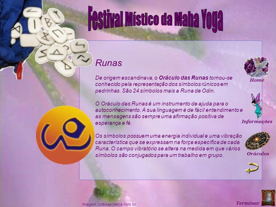 Imagem: culturaecletica.com.br Runas De origem escandinava, o Oráculo das Runas tornou-se conhecido pela representação dos símbolos rúnicos em pedrinhas.