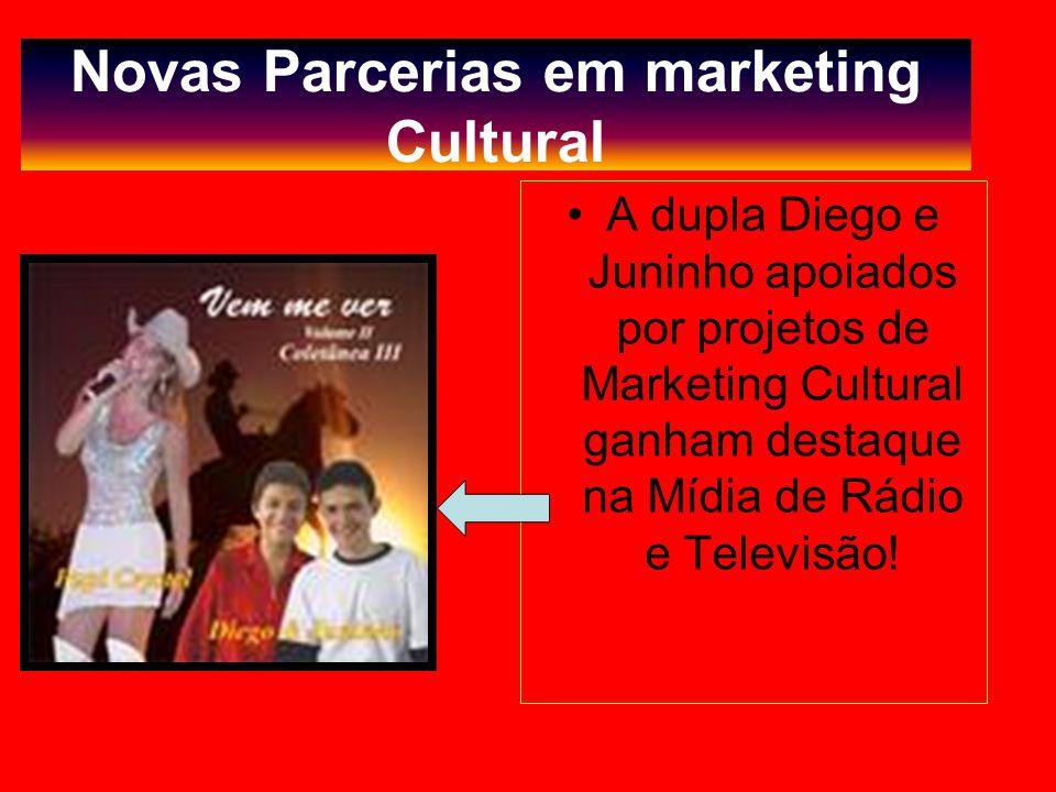 Novas Parcerias em marketing Cultural A dupla Diego e Juninho apoiados por projetos de Marketing Cultural ganham destaque na Mídia de Rádio e Televisão!