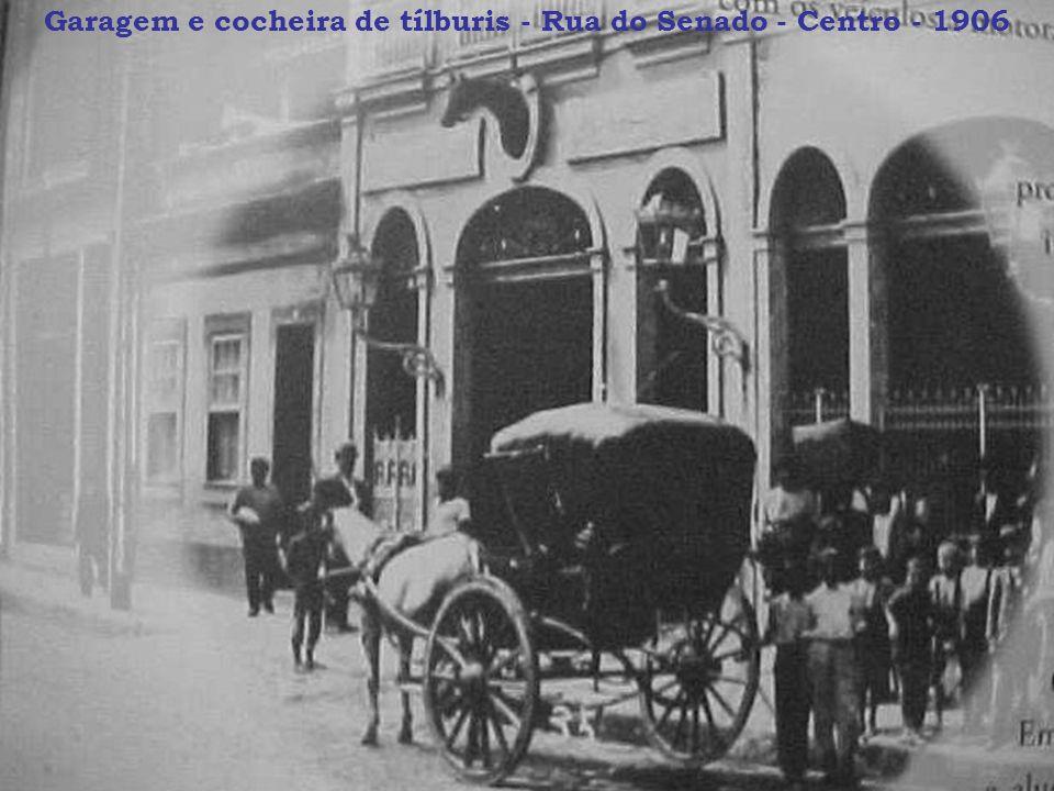 Garagem e cocheira de tílburis - Rua do Senado - Centro - 1906