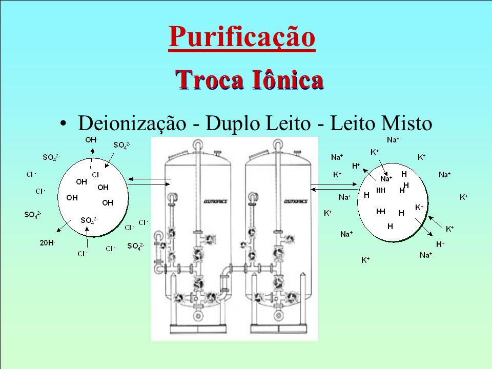 Troca Iônica Deionização - Duplo Leito - Leito Misto Purificação