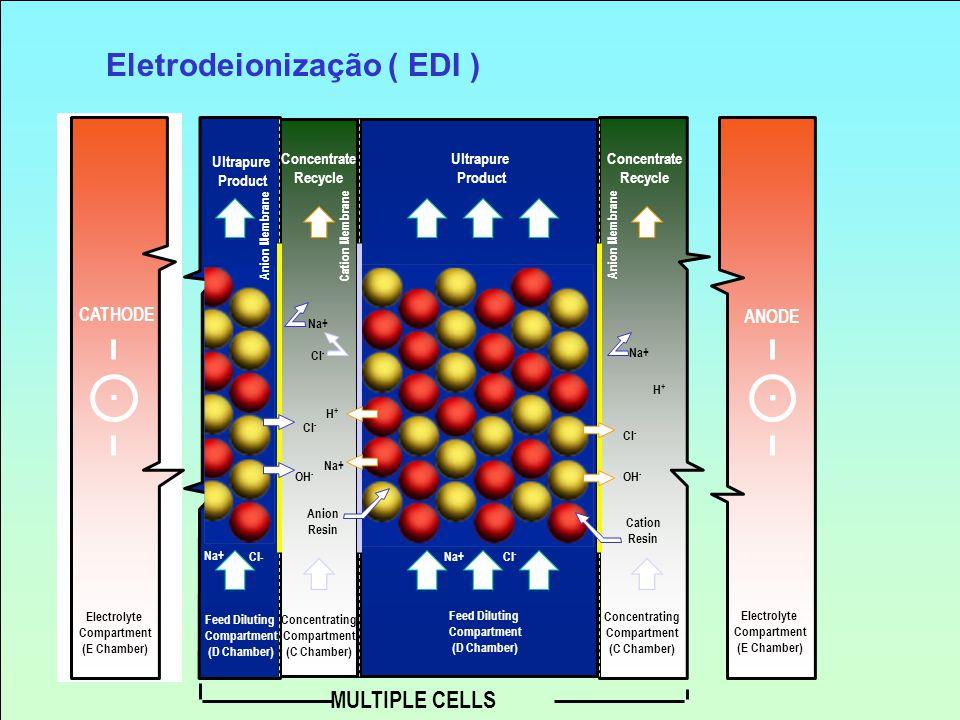 CATHODE ANODE Electrolyte Compartment (E Chamber) Electrolyte Compartment (E Chamber) Feed Diluting Compartment (D Chamber) Feed Diluting Compartment