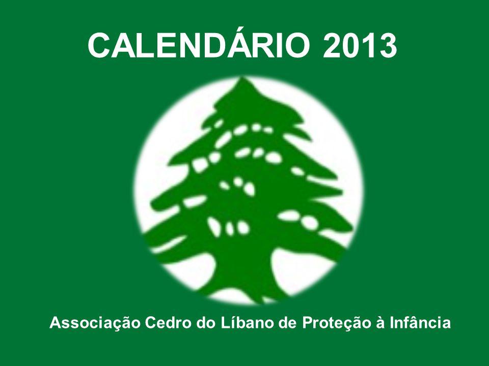CALENDÁRIO 2013 Associação Cedro do Líbano de Proteção à Infância