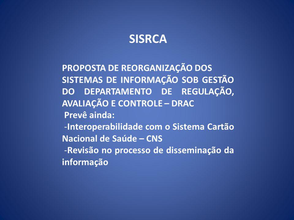 SISRCA A infraestrutura computacional para funcionamento dos Módulos é dependente do volume da produção captada e processada.