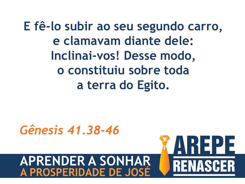 Disse ainda Faraó a José: Eu sou Faraó, contudo sem a tua ordem ninguém levantará mão ou pé em toda a terra do Egito.