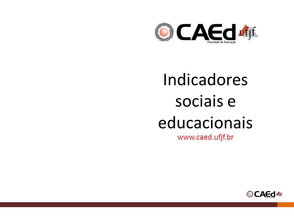 Indicadores sociais e educacionais www.caed.ufjf.br