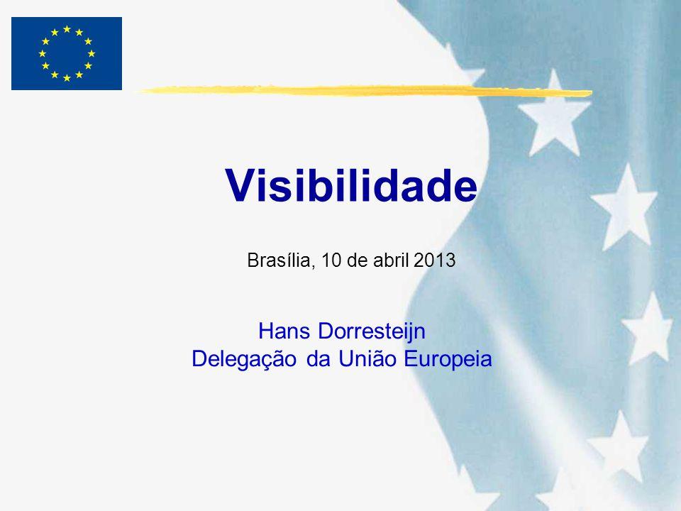 Visibilidade Hans Dorresteijn Delegação da União Europeia Brasília, 10 de abril 2013