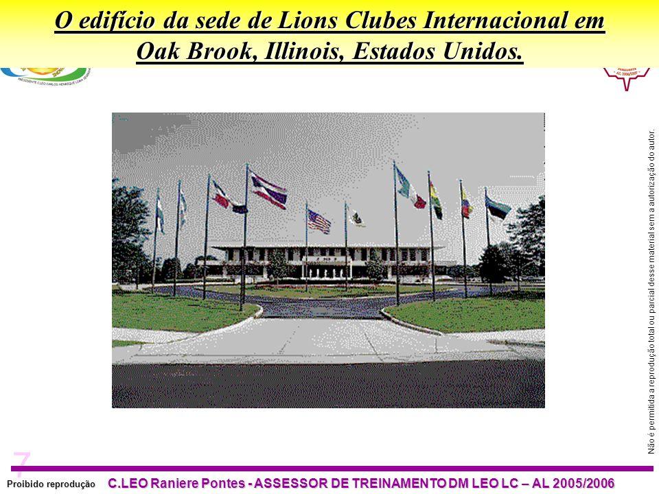 7 Proibido reprodução C.LEO Raniere Pontes - ASSESSOR DE TREINAMENTO DM LEO LC – AL 2005/2006 Não é permitida a reprodução total ou parcial desse material sem a autorização do autor.