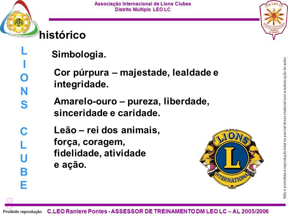 8 Proibido reprodução C.LEO Raniere Pontes - ASSESSOR DE TREINAMENTO DM LEO LC – AL 2005/2006 Não é permitida a reprodução total ou parcial desse material sem a autorização do autor.