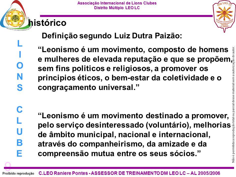 10 Proibido reprodução C.LEO Raniere Pontes - ASSESSOR DE TREINAMENTO DM LEO LC – AL 2005/2006 Não é permitida a reprodução total ou parcial desse material sem a autorização do autor.
