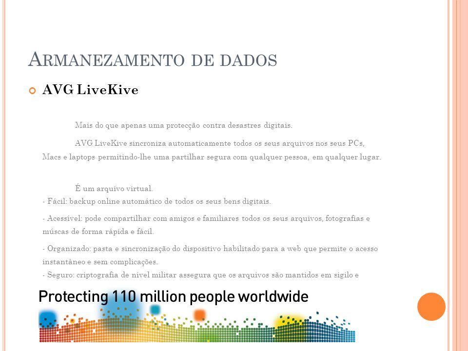 AVG LiveKive Mais do que apenas uma protecção contra desastres digitais.