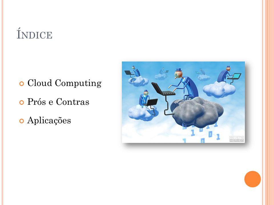Í NDICE Cloud Computing Prós e Contras Aplicações
