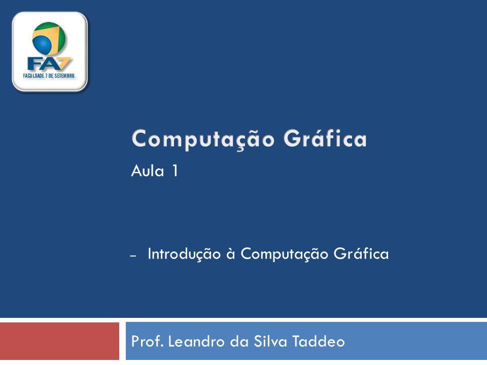 Prof. Leandro da Silva Taddeo – Introdução à Computação Gráfica Aula 1