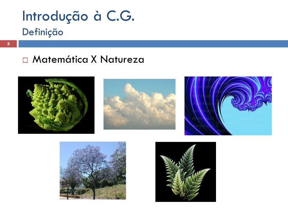  Matemática X Natureza Definição 5 Introdução à C.G.