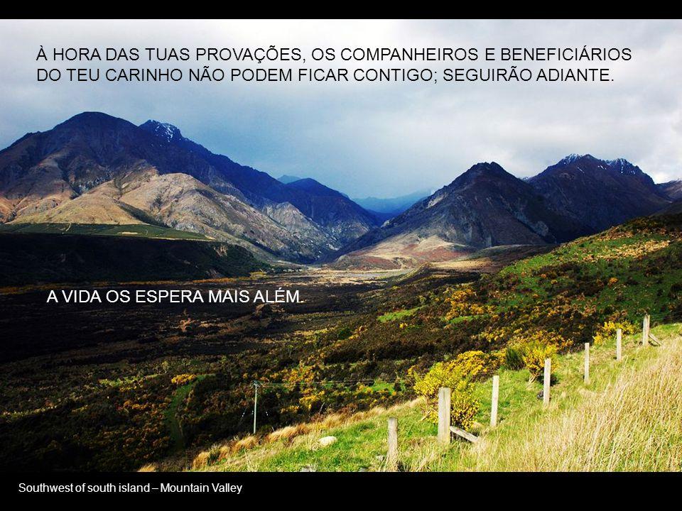 Southwest of south island – Grassland SÓ NO MUNDO, E O PAI COM ELE.