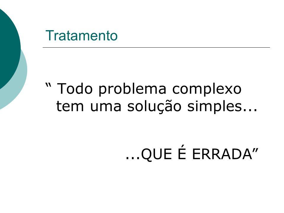 """Tratamento """" Todo problema complexo tem uma solução simples......QUE É ERRADA"""""""