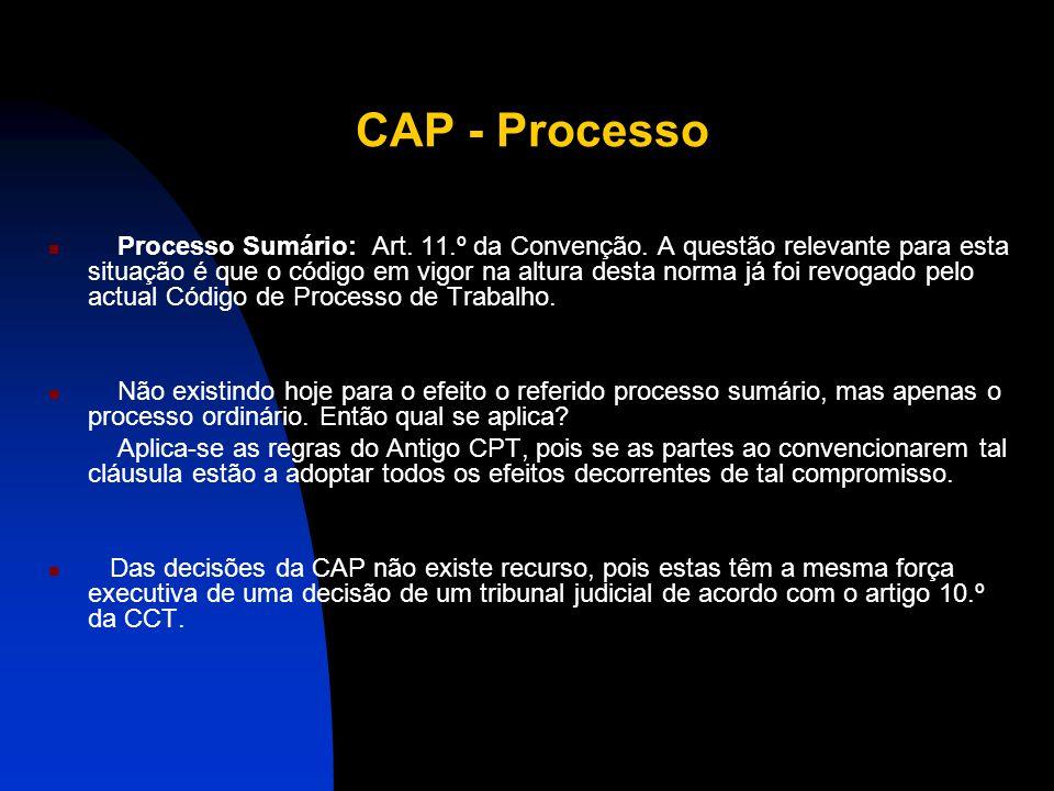 """CAP - Competência Artigo 3. """"Compete à Comissão Arbitral Paritária: a) Interpretar as disposições do presente CCT; b) Integrar os casos omissos; c) Di"""