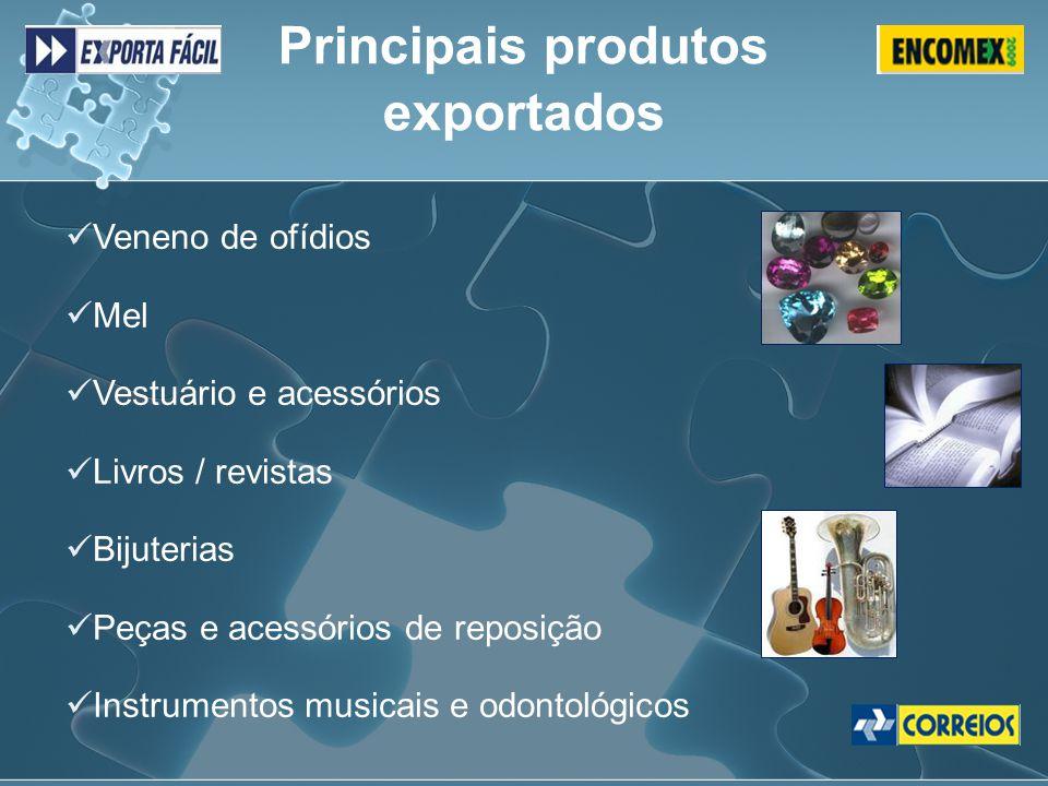 Veneno de ofídios Mel Vestuário e acessórios Livros / revistas Bijuterias Peças e acessórios de reposição Instrumentos musicais e odontológicos Princi