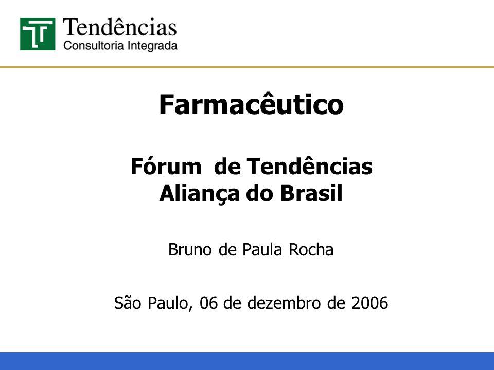 Farmacêutico Fórum de Tendências Aliança do Brasil Bruno de Paula Rocha São Paulo, 06 de dezembro de 2006