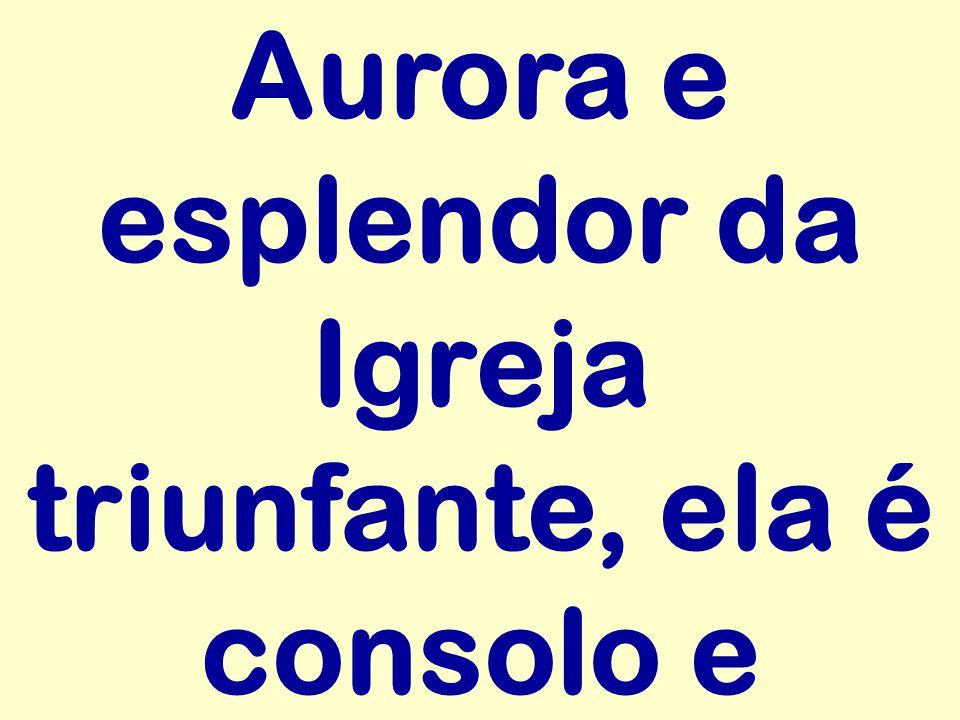 Aurora e esplendor da Igreja triunfante, ela é consolo e
