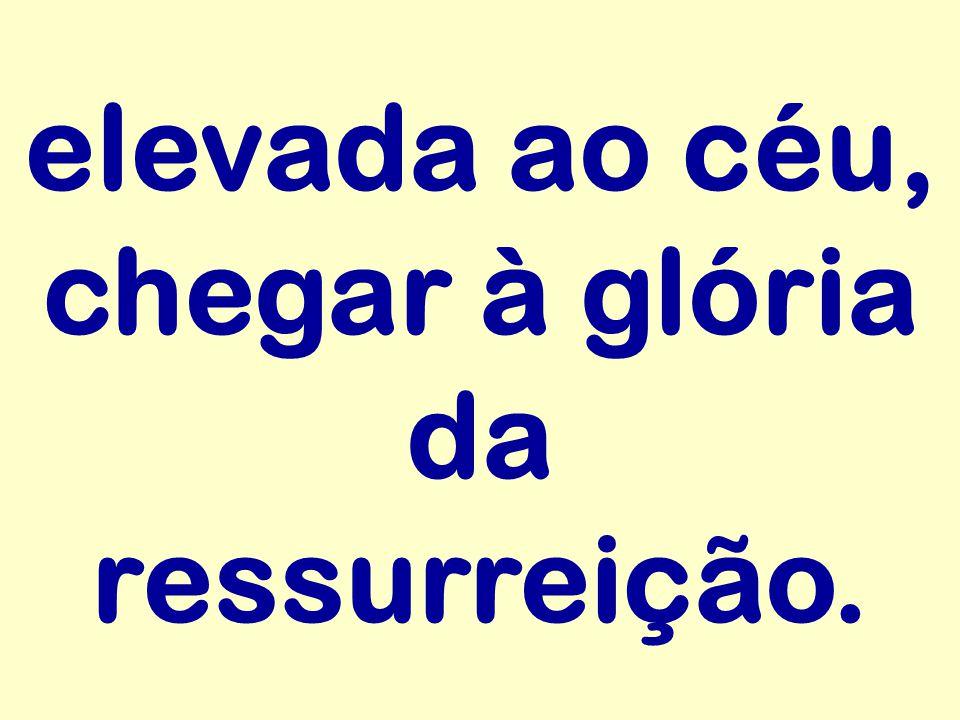 elevada ao céu, chegar à glória da ressurreição.