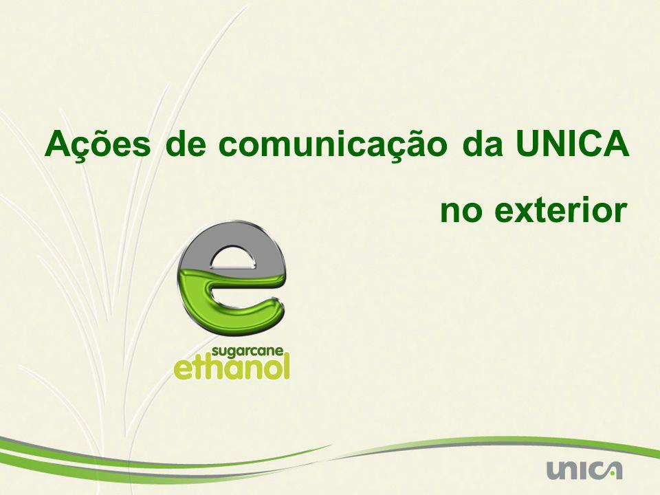 Ações de comunicação da UNICA no exterior